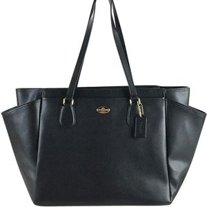 Coach Crossgrain Leather Multifunc Diaper Bag/Tote